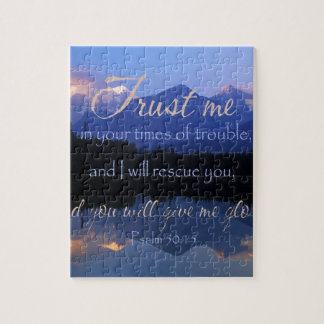 Trust in me in times of Trouble Psalms 50:15 Jigsaw Puzzle