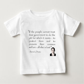 Trust in the government, Barack Obama Baby T-Shirt