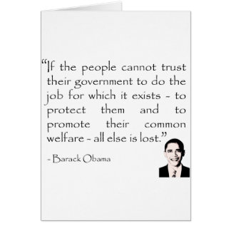 Trust in the government, Barack Obama Card