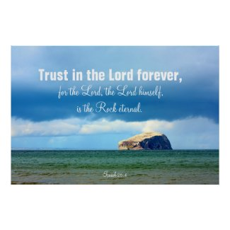 Trust in the Lord, Bass Rock, Scotland Poster