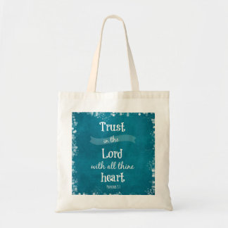 Trust in the Lord Bible Verse Budget Tote Bag