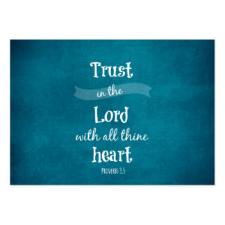 Trust in the Lord Bible Verse Business Cards