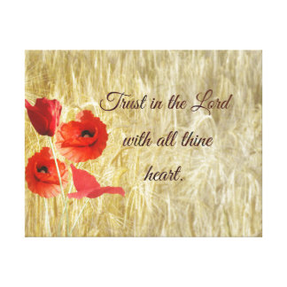 Trust in the Lord Bible Verse Canvas