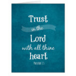 Trust in the Lord Bible Verse Card