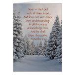 Trust in the Lord Bible Verse Custom Card