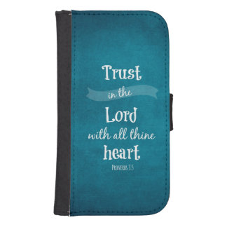 Trust in the Lord Bible Verse Phone Wallet Case
