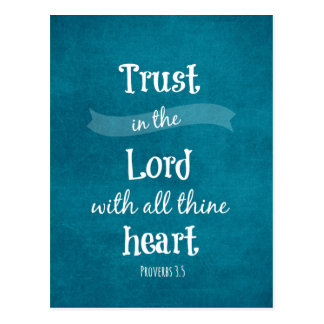 Trust in the Lord Bible Verse Postcard