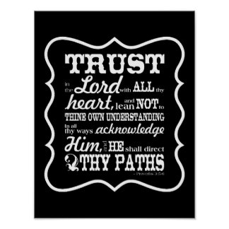 Trust in the Lord -- Black Poster