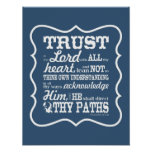 Trust in the Lord -- Blue Poster