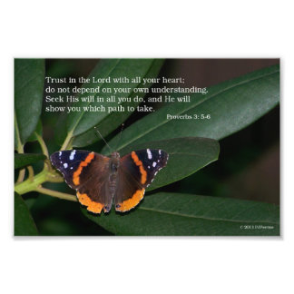 Trust In The Lord Butterfly Photo Print