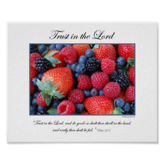 Trust in the Lord - By Rebecca Huffman (8x10) Poster