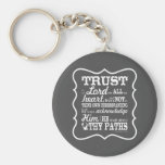 Trust in the Lord - Grey Basic Round Button Keychain