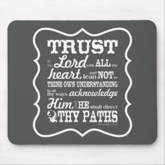 Trust in the Lord - Grey Mouse Pad