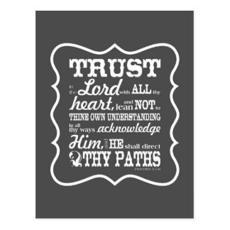 Trust in the Lord - Grey Postcard