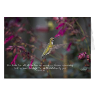 Trust in the Lord Hummingbird  Card Proverbs
