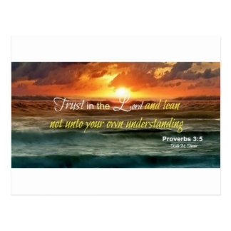 Trust in the Lord Inspirational Postcard