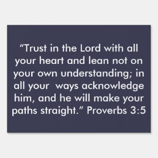 """""""Trust in the Lord"""" Inspirational Yard Sign"""
