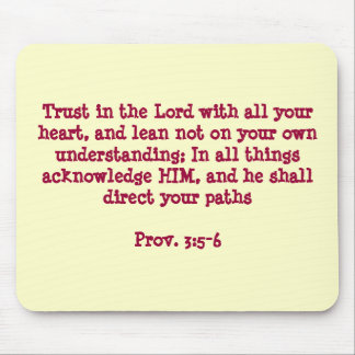 """Trust in the Lord"" Mouse Pad"