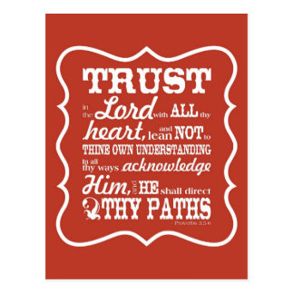 Trust in the Lord - Orange Postcard