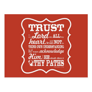 Trust in the Lord - Orange Postcard
