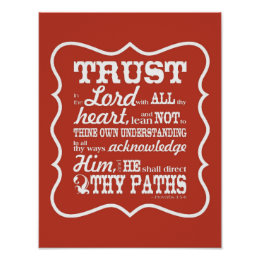 Trust in the Lord -- Orange Poster