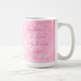 Trust in the Lord Paisley Ceramic Mug, Pink Coffee Mug