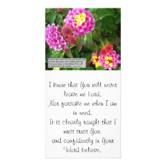 Trust in the Lord...photo card/bookmark Card