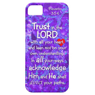 Trust in the Lord Proverbs 3:5-6 Christian Purple iPhone SE/5/5s Case