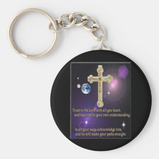 Trust in the Lord proverbs 3:5 gifts Keychain
