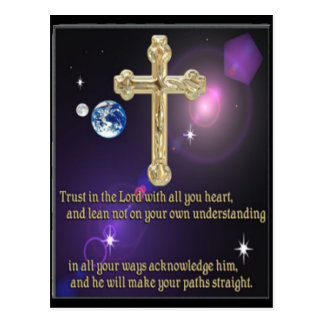 Trust in the Lord proverbs 3:5 gifts Postcard