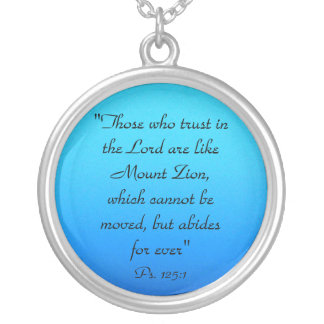 Trust in the Lord Psalms 125:1 Silver Plated Necklace