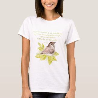 Trust in the Lord Scripture with Watercolor Bird T-Shirt