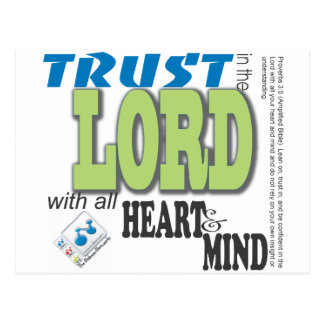 Trust in the LORD with all heart and mind Postcard