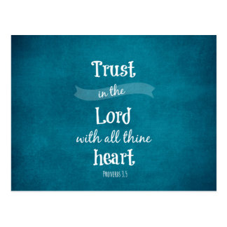 Trust in the Lord with all thine heart Bible Verse Postcard