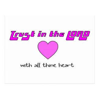 Trust in the LORD with all thine heart Postcard