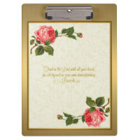 Trust in the Lord with all your Heart Clipboard