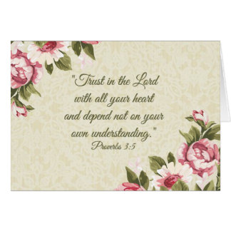 Trust in the Lord with all your Heart  Pink Roses Card