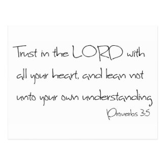 Trust in the LORD with all your heart Postcard