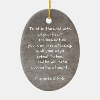 Trust in the Lord with all your heart Proverbs 3 Christmas Tree Ornament