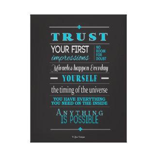 Trust Inspirational Motivational Quote Canvas Print