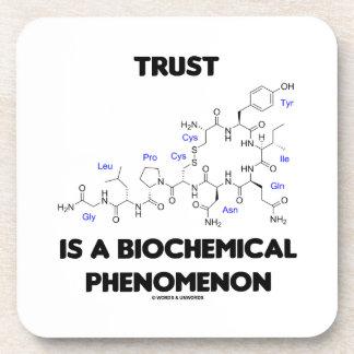 Trust Is A Biochemical Phenomenon (Oxytocin) Coasters