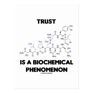 Trust Is A Biochemical Phenomenon (Oxytocin) Postcard