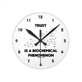 Trust Is A Biochemical Phenomenon (Oxytocin) Round Clock