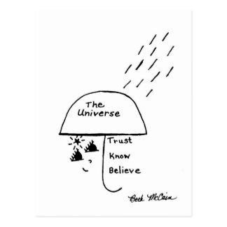 'Trust, Know, Believe' Postcard