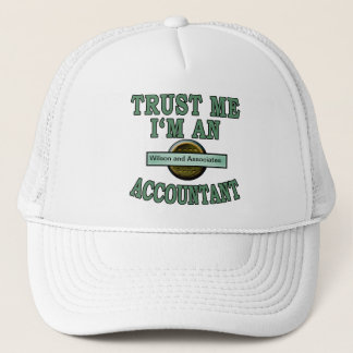 Trust Me Accountant Customize with your Your Logo Trucker Hat