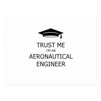 Trust me aeronautical I'm an engineer Postcard