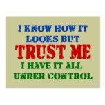 Trust Me - All Under Control Postcard