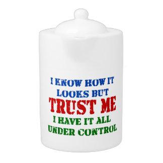 Trust Me -- All Under Control Teapot