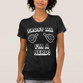TRUST ME AM I NERD WOMEN BLACK T-Shirt