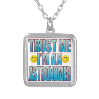 Trust Me Astronomer Life B Square Pendant Necklace